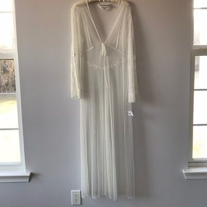 Frederick's of Hollywood:  Lace, mesh long robe